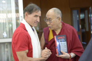 Dan Tito Davis with the Dalai Lama